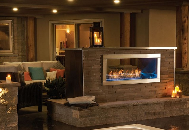 About Barbeques Fireplaces Napoleon Galaxy 48 Outdoor Gas Fire